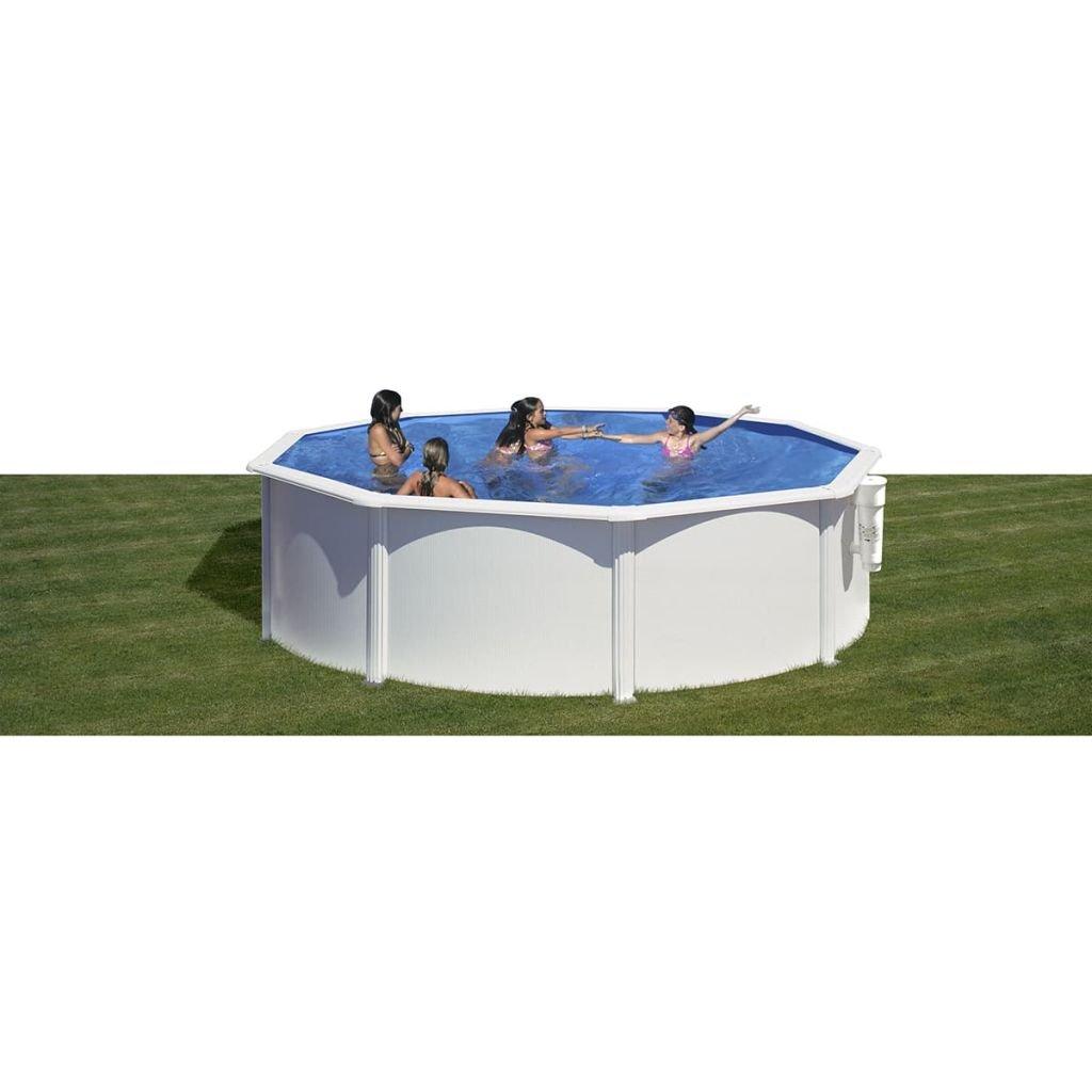 Gre KITPR3583- Piscina Azores desmontable redonda de acero color blanco Ø350x132 cm: Amazon.es: Juguetes y juegos