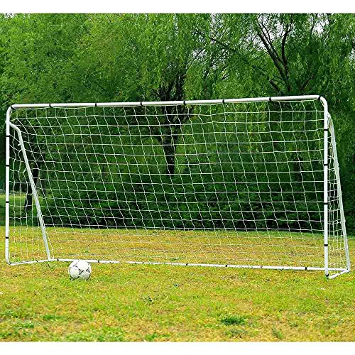 12' x 6' Powder Coated steel Tube Soccer Goal Training (Goal Sporting Goods Nylon Football)