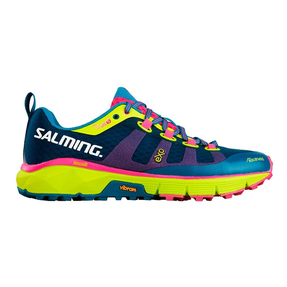 Salming Trail 5 Womens Shoes Lyons Blue//Safety Yellow