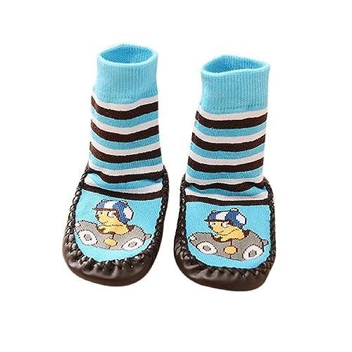 236eb35f9 Calcetines de bebé Auxma Niños de Dibujos Animados Niños bebé  Antideslizante Calcetines Calzados Calcetines Pantuflas para