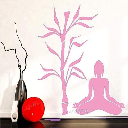 zqyjhkou Buda y árbol de bambú Pegatinas de Pared Vinilo ...