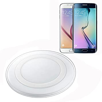 Malloom®Para Samsung Galaxy S6 / S6 Edge Cargador inalámbrico Qi Pad de carga Base de carga(Blanco)