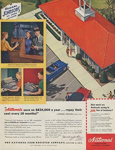 Howard Cream Ice Johnsons (Howard Johnson's Ice Cream National Cash Register ad 1955 P)