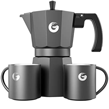 Coffee Gator Espresso Moka Pot - Cafetera Moka expreso 2 Tazas térmicas - 350ml: Amazon.es: Hogar
