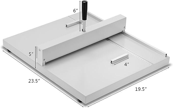 VEVOR 460mm Macchina per Cordonatura Macchina per Cordonatura Manuale Cordonatrice Perforatrice Manuale Carta Metallo Multifunzione