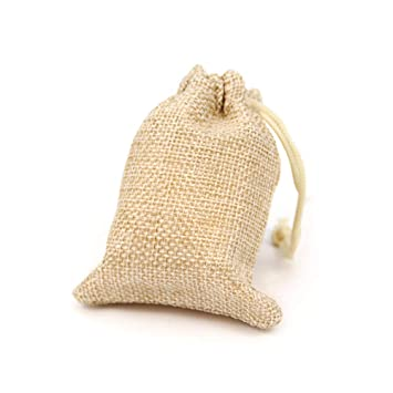 RUBY - 50 Bolsas de arpillera con cordón 9 x 7cm, Bolsitas ...