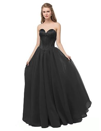 Libaosha Womens Floor Length Formal Dress Sweetheart Lace Up Back
