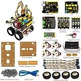 Keyestudio Desktop Bluetooth Mini Smart Car 4WD L298P motor driver Robot Car Assembly Kit for Arduino