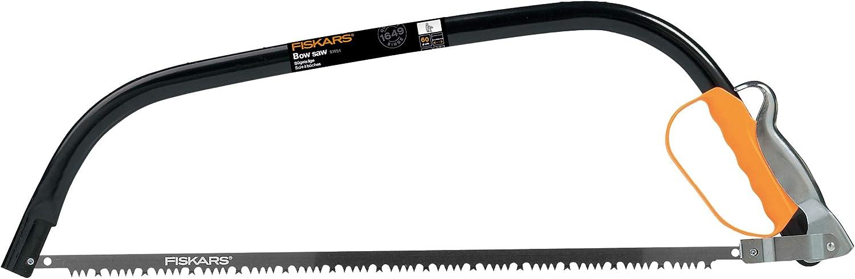 Fiskars Sierra de arco para madera verde, Cuchilla fija, Longitud: 70 cm, Negro/Naranja, 1000615