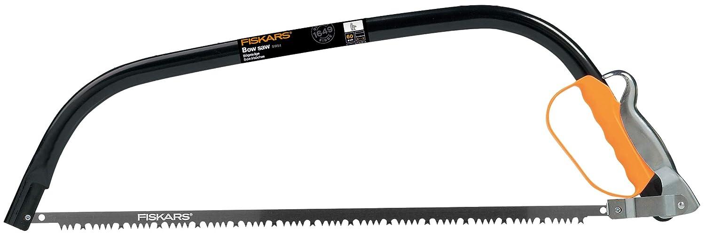 1001621 Negro//Naranja Fiskars Sierra de arco para madera verde Acero de alta calidad Longitud: 62 cm