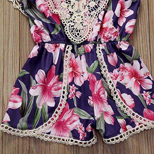 bcf1fdb737ad GRNSHTS Baby Girls Floral Lace Sleeveless High Waist Romper (90 12-18 Months