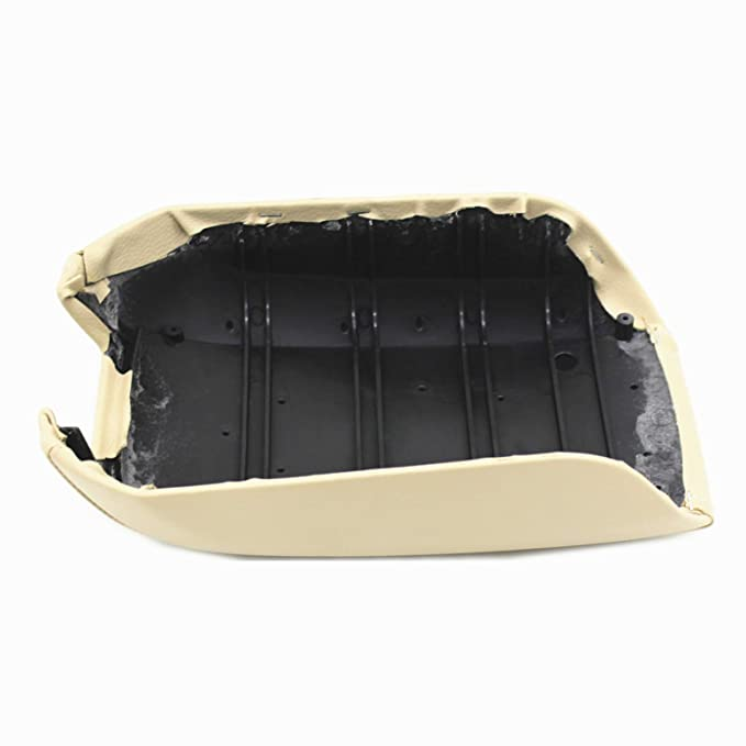 DSparts Center Console Lid Armrest Cover Leather for Volvo XC90 2003-2014 Black Leather Part Only