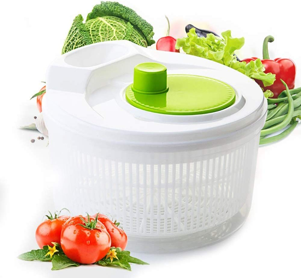 Aich Plastic Salad Spinner Vegetable Dehydrator Fruit Drain Basket Salad Spinner Kitchen Gadget Salad Tool Dry Drainer by Aich