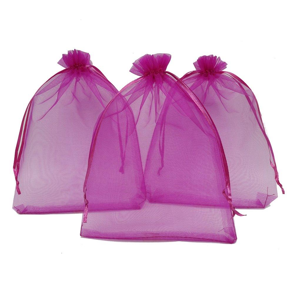 Amazon.com: Ankirol 50pcs Large Sheer Organza Favor Bags 6.6x9 ...