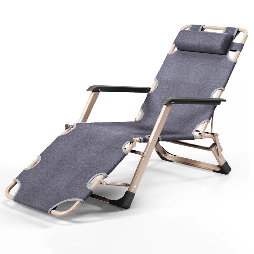 Faltbarer Plattform-Stuhl/faltende Sun-Liege/stützender Stuhl/entspannender Stuhl/Multifunktionsklappstuhl (2 Farben, zum von zu wählen) (Farbe : grau)