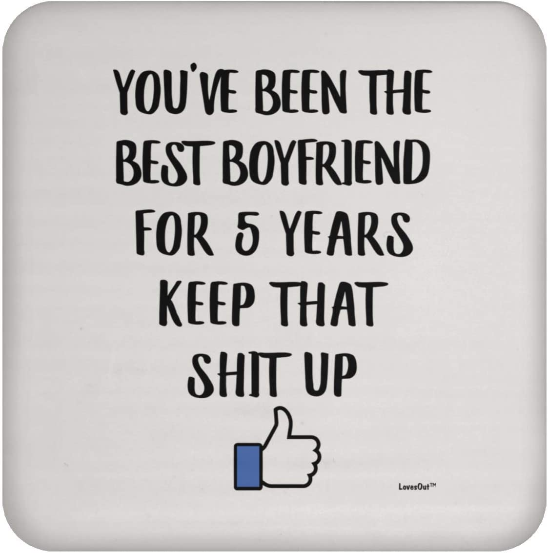 1st Yr Together Celebration Present for Men Coaster 1 Year Boyfriend Gifts for Anniversary for Him