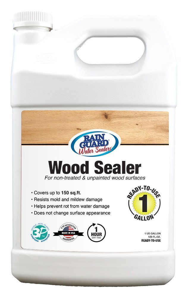 Rain Guard Water Sealers SP-8004 Wood Sealer Ready to Use - Water Repellent for Interior or Exterior Wood - 1 Gallon, Invisible Clear