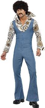 Seventies Jeans Traje Danza Disfraz Azul M 48/50 Danza ...