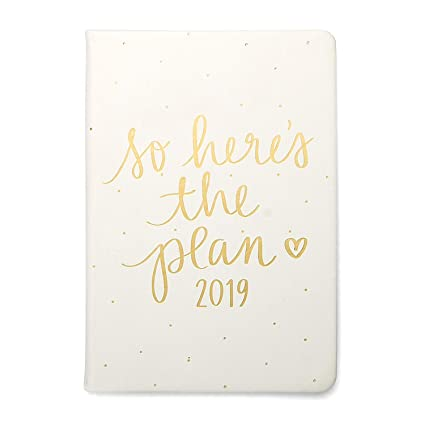 "2019 Eccolo Designer ""So Here is The Plan"" Flexible Agenda Planner, Monthly & Weekly Views, 5.25 x 7.75"