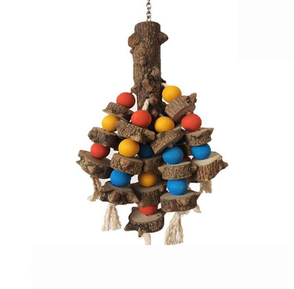 Bird Toys for Parred Chewing and Destroy Wood Toy