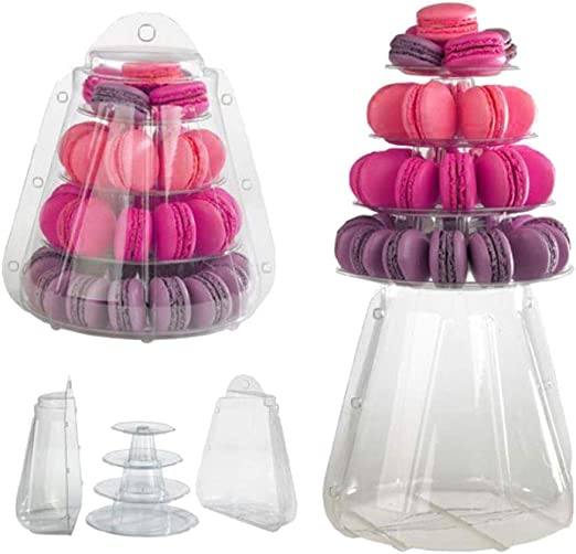 US FREE SHIPPING CLEAR FOOD-SAFE 10-TIER ROUND FRENCH MACARON TOWER STAND