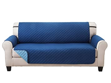 Amazon Com Deluxe Reversible Sofa Furniture Protector Blue Light