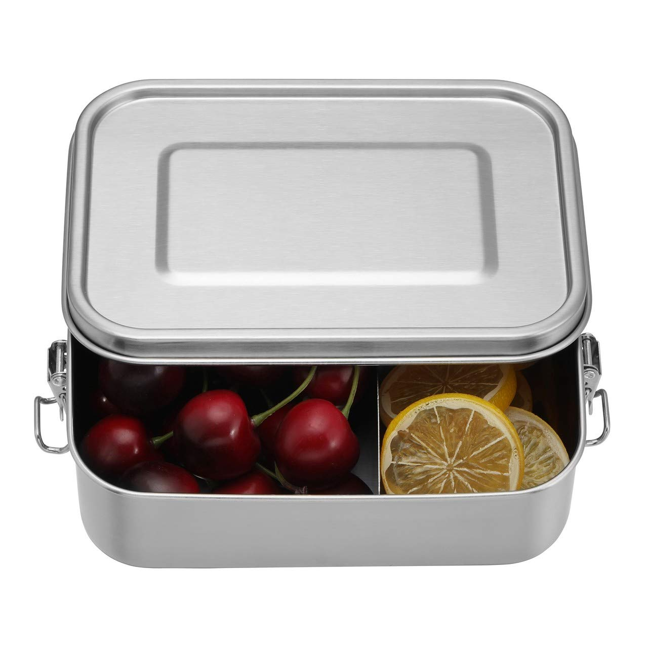 WarmHut Stainless Steel Lunch Container with Removable Compartment - Bento Lunch Box for Kids or Adults - Leak Proof Metal Food Storage Food Container(40OZ/1200ML)