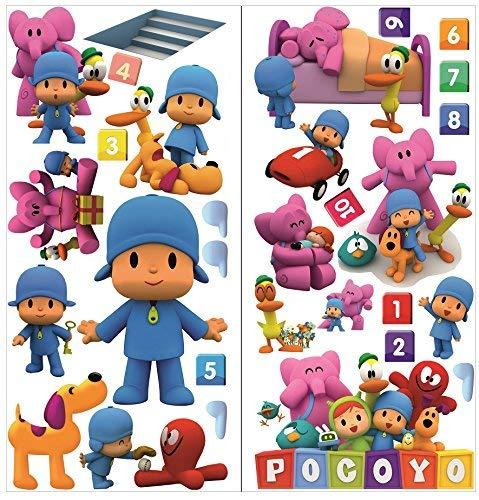 pegatinas de pared pocoyo para dormitorio niños y niñas mural de la pared etiqueta engomada del papel pintado de pared para Nursery wall art playrooms ...
