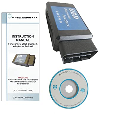 BAFX product blutooth obd2 scan tool review