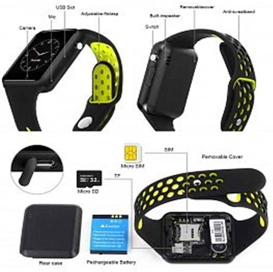 JDTECK bq Aquaris E6 Watch Connected, Smartwatch TF (Micro SD ...