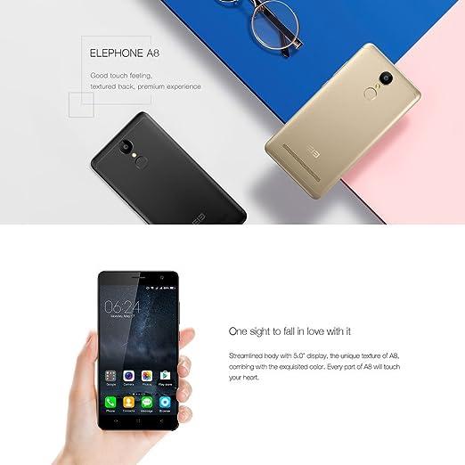 Smartphone Libre Baratos, Elephone A8 3G Android 7.0 Móviles (5.0