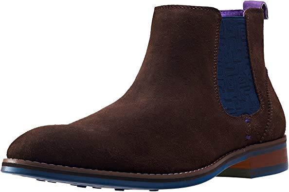 NW1 London Side Elastic Mens Chelsea Boots Brown New Shoes