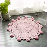 Pink Color Handmade Nordic Carpets Carpet Kids' Room Game Pad Coffee Table Area Rug Children Play Floor Mat Cute