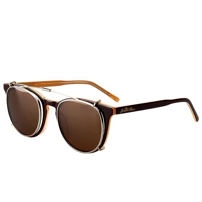 2b3d87a9d2a Jardin d amour Designer Women Men Clear Lens Eyeglasses Frames Clip-On  Round Sunglasses