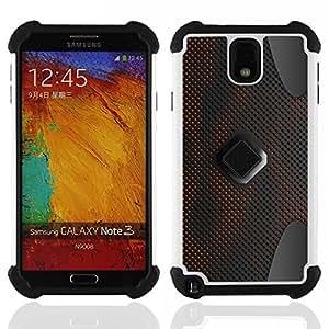 BullDog Case - FOR/Samsung Galaxy Note3 N9000 N9008V N9009 / - / Abstract Pattern /- H??brido Heavy Duty caja del tel??fono protector din??mico - silicona suave