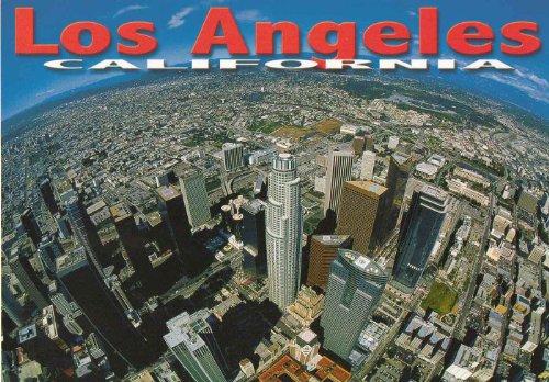 Los Angeles Panoramic Aerial View Postcard