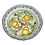 italian pasta bowls made in italy - CERAMICHE D'ARTE PARRINI - Italian Ceramic Art Pottery Bowl For Fruit,Salad, Pasta Hand Painted Made in ITALY Tuscan