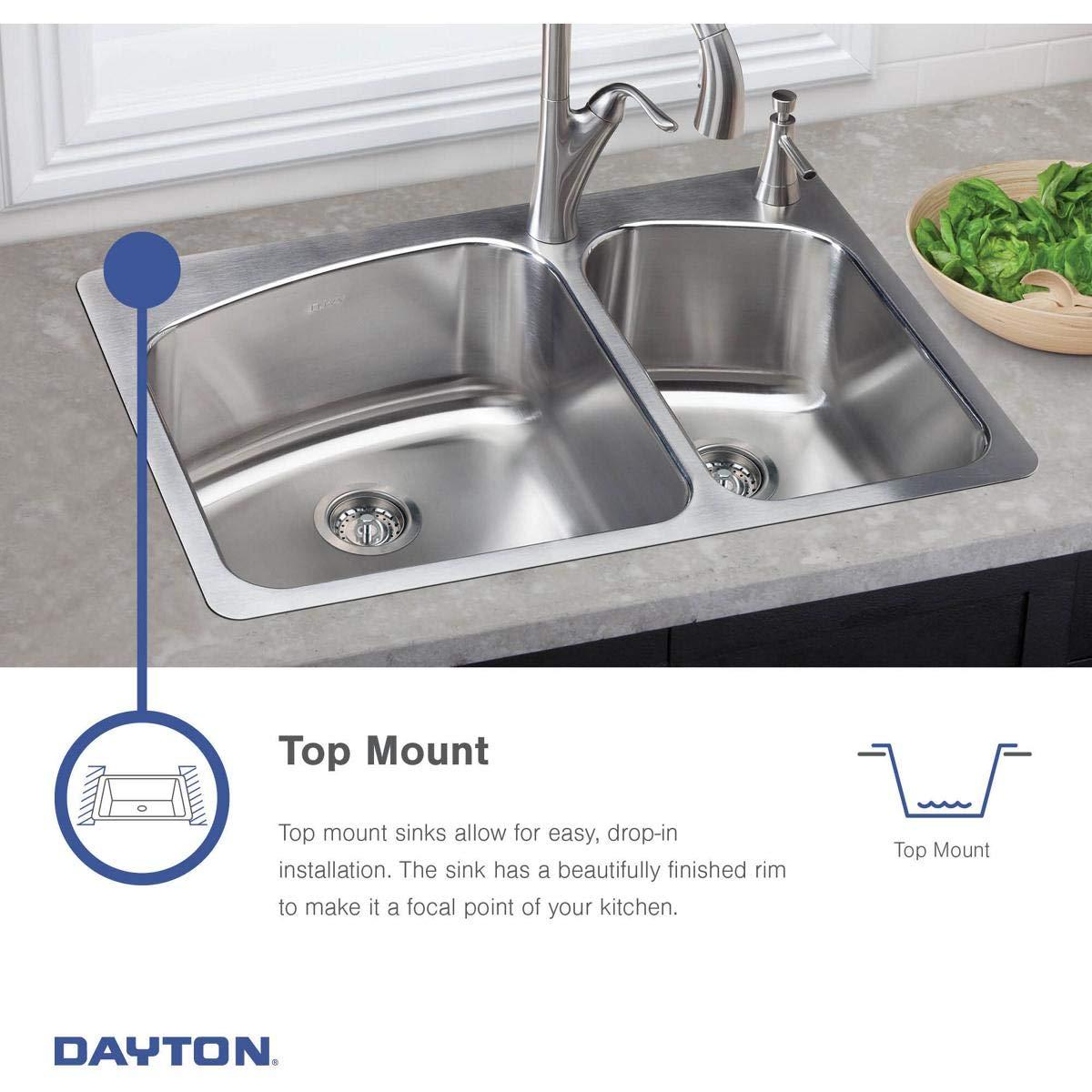 Elkay DE217323 Dayton Equal Double Bowl Stainless Steel Corner Sink by Elkay (Image #7)