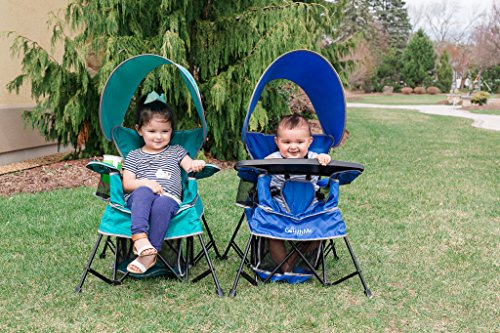 61R6umow9iL - Baby Delight Go With Me Chair | Indoor/Outdoor Chair with Sun Canopy | Teal | Portable Chair converts to 3 child growth stages: Sitting, Standing and Big Kid | 3 Months to 75 lbs | Weather Resistant