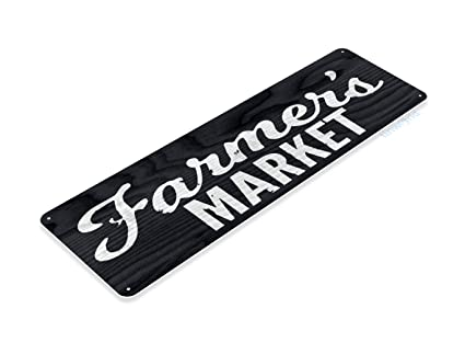 Amazon com: Tinworld Tin Sign Farmers Market Rustic Store Metal Sign