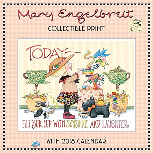 Mary Engelbreit's 35 Years of Ann Estelle Collectible Print with 2018 Wall Calen
