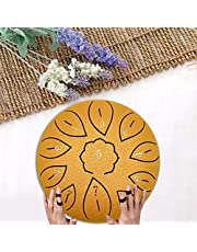 motifa Steel Tongue Drum - 6 Inches 11 Notes Tongue Drum - Handpan Drum - Hand Drum - Percussion Instrument with Drum Mallets Carry Bag Notes Sticker for Meditation Yoga Zazen Sound Healing