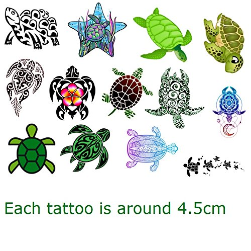 Turtle Tortoise Collection (Turtle Temporary Tattoos) -