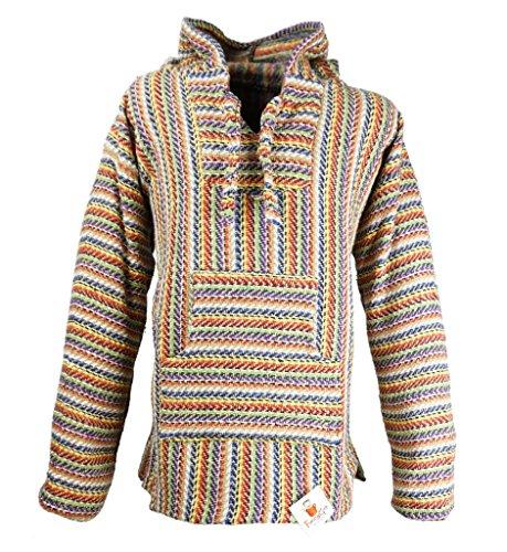 um Baja Hoodie Sweatshirt Pullover Jerga Poncho (Festival, 2X-Large) (Drug Rug)