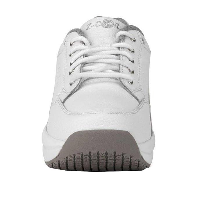 new arrival 69bbf 32ca7 Amazon.com   Z-CoiL Women s Legend Slip Resistant White Leather Tennis Shoe  8 C D US   Tennis   Racquet Sports