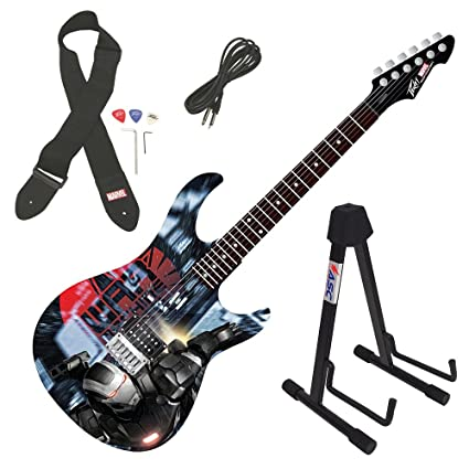 Amazon.com: Peavey Rockmaster Marvel Iron Man 3 War Machine Full Electric Guitar & Stand: Musical Instruments