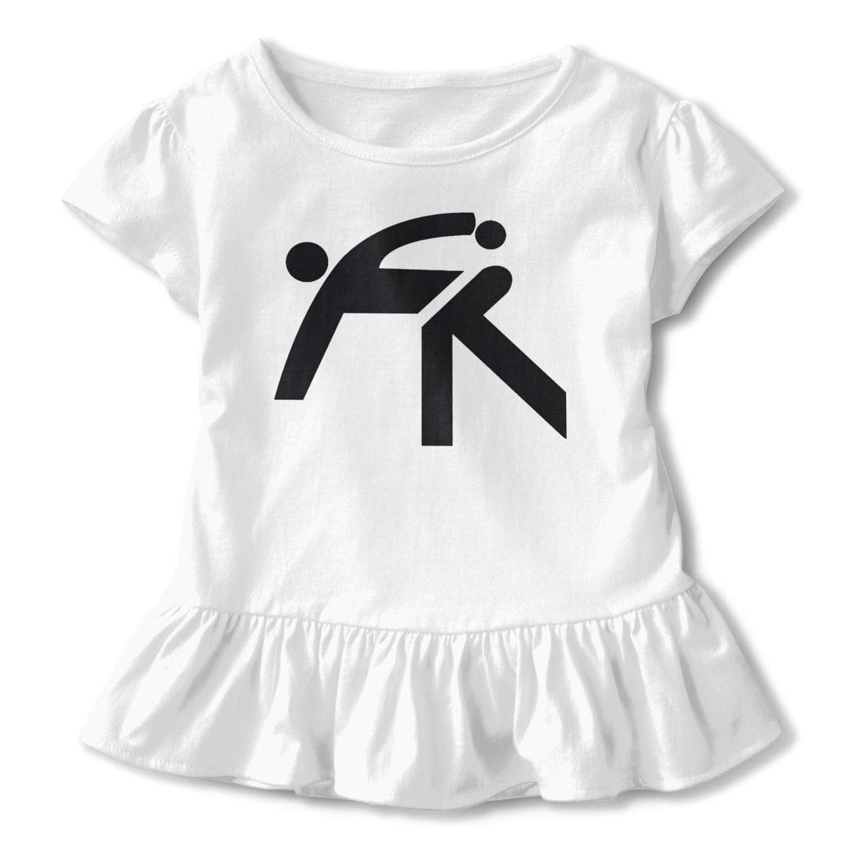 Cropped Bowling Shirt Design Baby Girl Flounced T Shirts Tops for 2-6T Baby Girls
