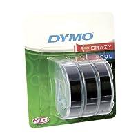 Dymo Ruban de Marquage 3D 9 mm x 3 m - Blanc sur Noir (Lot de 3)