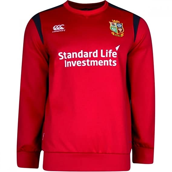 Canterbury British   Irish Lions 2017 Tech Crew Rugby Training Top - Tango  Red - Size 3XL  Amazon.co.uk  Clothing bb602b638