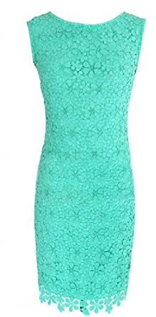 e2ef43acf11 Image Unavailable. Image not available for. Color  Women Summer Bandage  Bodycon Lace Evening Sexy Party Cocktail Mini Dress